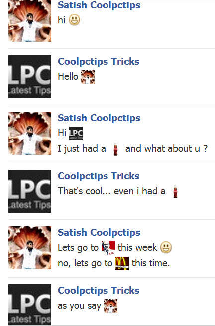 facebook pictures in chat
