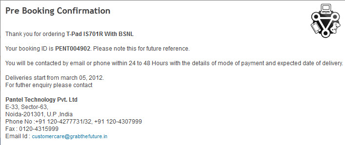 BSNL Penta TPAD IS701R