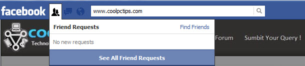 ignored friend requests in facebook