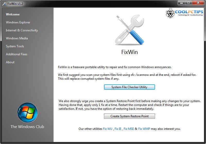 FixWin 1.2