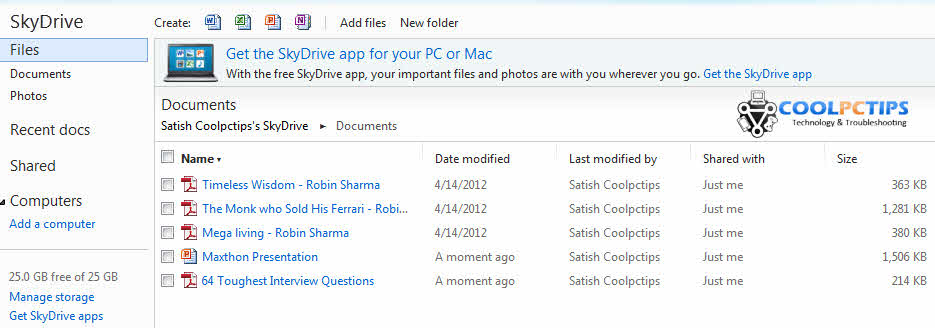 pdf files in windows phones