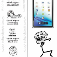 aakash tablet deliery date