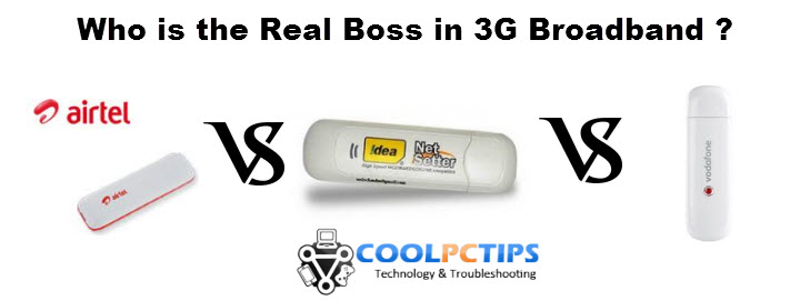Which is the Best 3G USB Dongle? - Airtel, Idea, Vodafone 3G