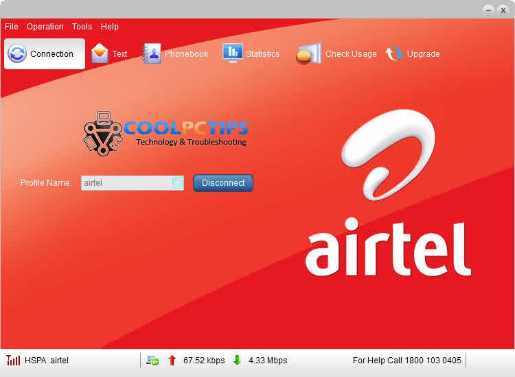 Airtel 3G USB update