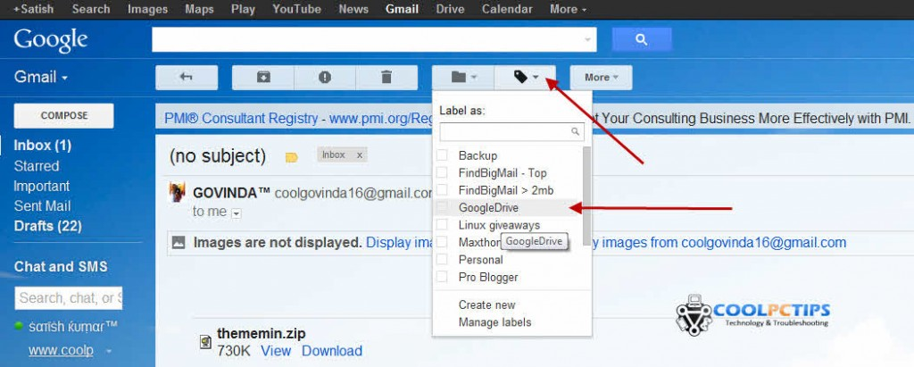 gmail attachments to google drive