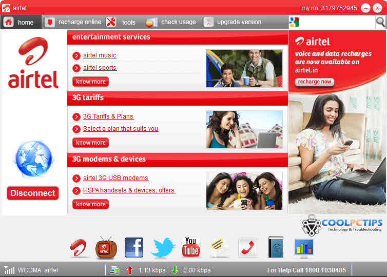 Upgrade Your Airtel 3G Dongle Software to Avoid Connection