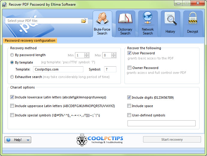 Eltima Recover PDF Password