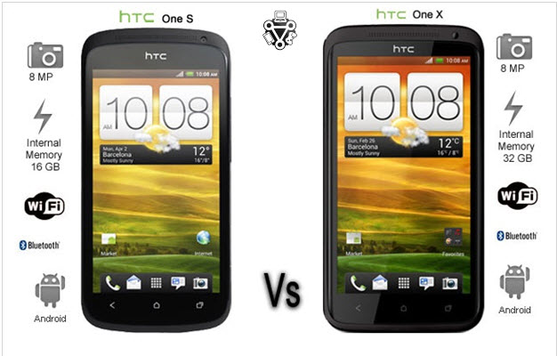 htc one v vs htc one x