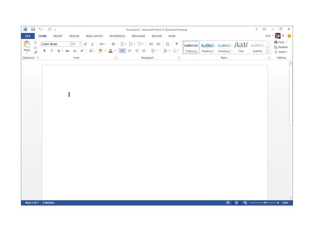 Microsoft Office 2013 UI