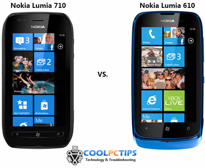 nokia lumia 710 vs nokia lumia 610