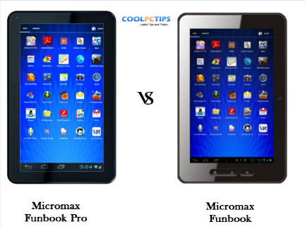 Micromax Funbook vs Funbook Pro