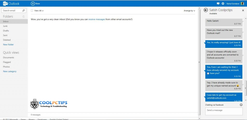 Outlook Mail Review - Chat