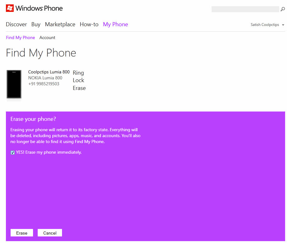 Find a Lost Windows Phone