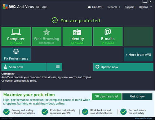 Best Antivirus 2013 for Windows 8 - AVG