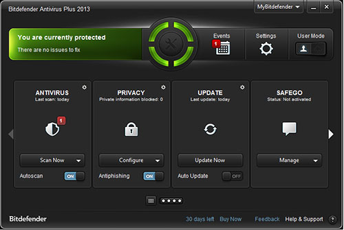 Best Antivirus 2013 for Windows 8 - BitDefender