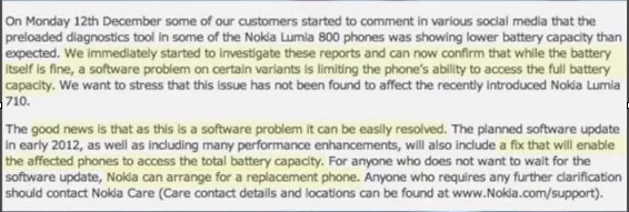 Disadvantages with Nokia Lumia 800