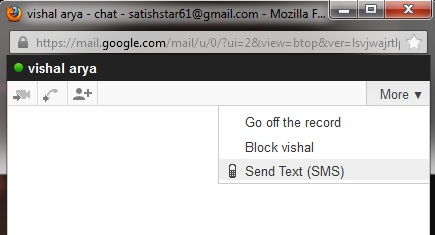 SMS chat in Gmail