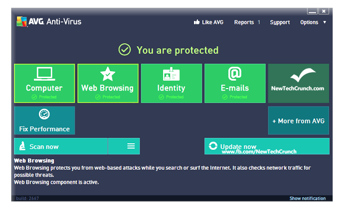 Best Free Antivirus for Windows 8 - AVG Anti-Virus Free 2013