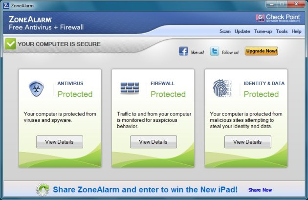 Best Free Antivirus for Windows 8 - ZoneAlarm Free Antivirus + Firewall