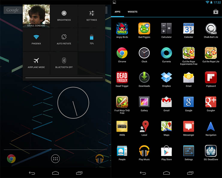 Google Nexus 7 Review - UI
