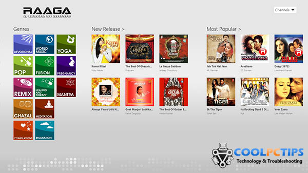 Must have Windows 8 apps - Raaga, Gaana, Hungama and Dhingana