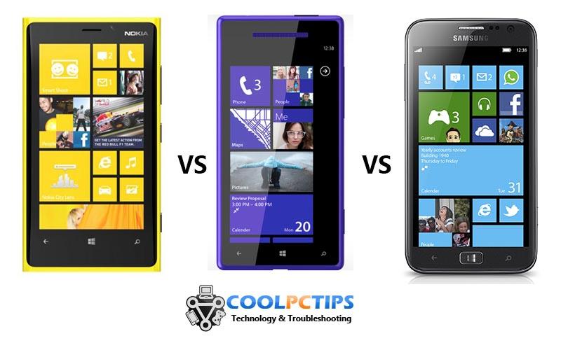 Nokia Lumia 920 vs HTC 8X vs Samsung Ativ S