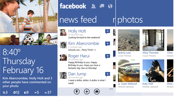 Must Have Windows Phone 8 apps - Facebook