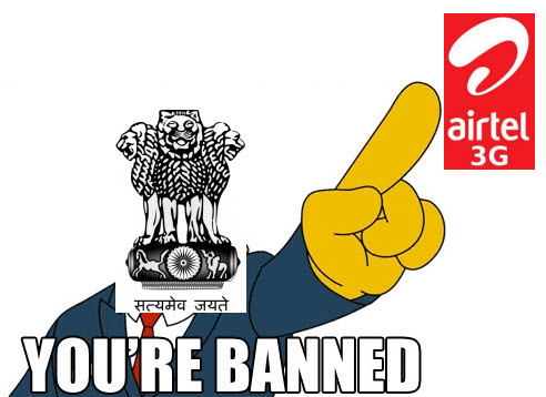 Airtel Asked to Stop 3G Services