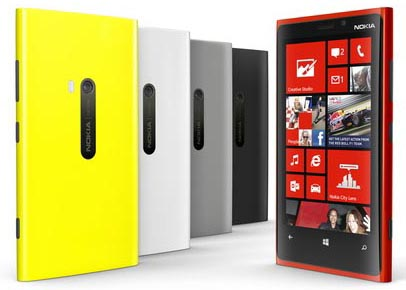 BlackBerry Z10 vs Nokia Lumia 920 - Nokia Lumia 920 Colors