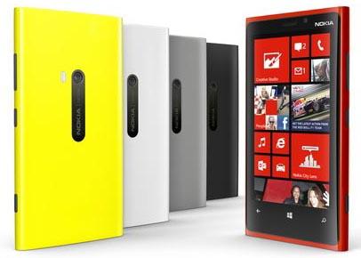 BlackBerry Z10 vs Nokia Lumia 920 - Nokia Lumia 920 Colors