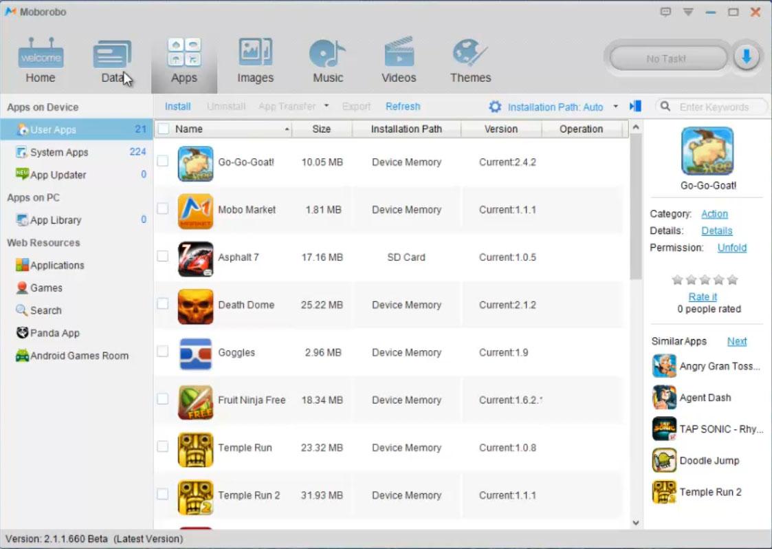 Moborobo Review Screen 2