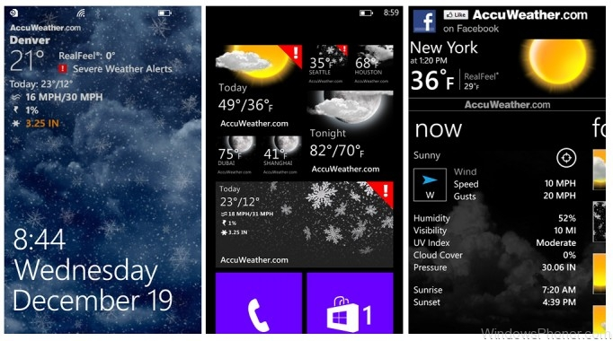 Top Weather Apps for Windows Phone 8 - AccuWeather