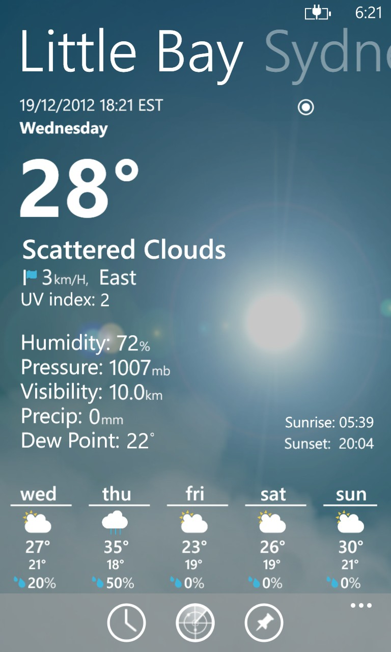 Top Weather Apps for Windows Phone 8 - Amazing Weather HD