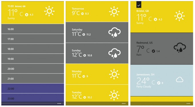 Top Weather Apps for Windows Phone 8 - The Forecast