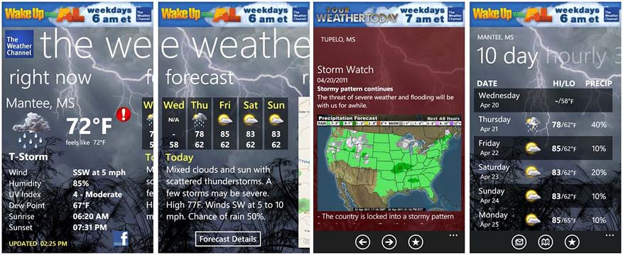 Top Weather Apps for Windows Phone 8 - The Weather Channel