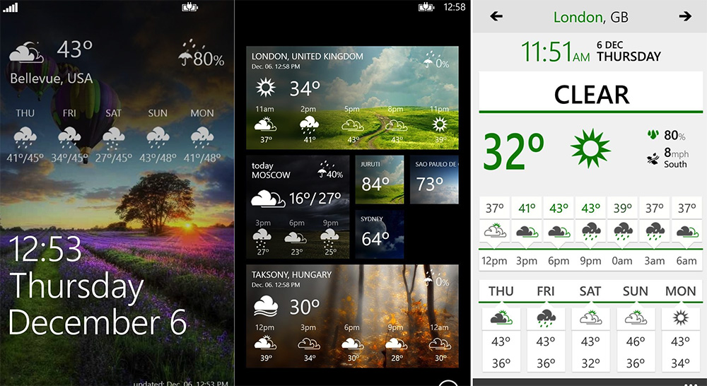 Top Weather Apps for Windows Phone 8 - WeatherFlow