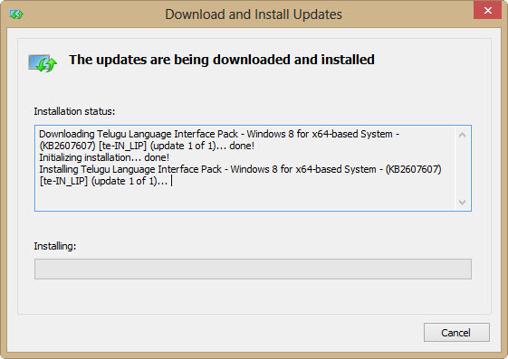 download and install language package