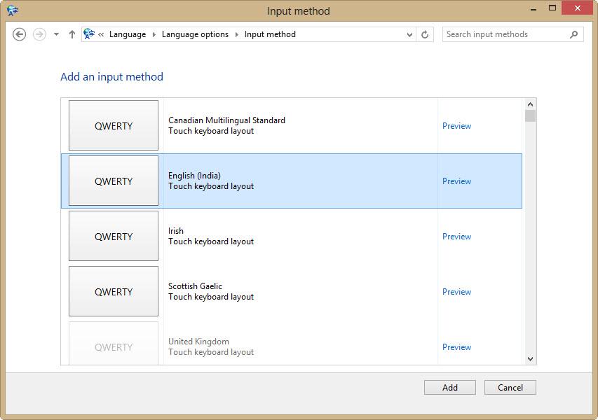 qwerty input method