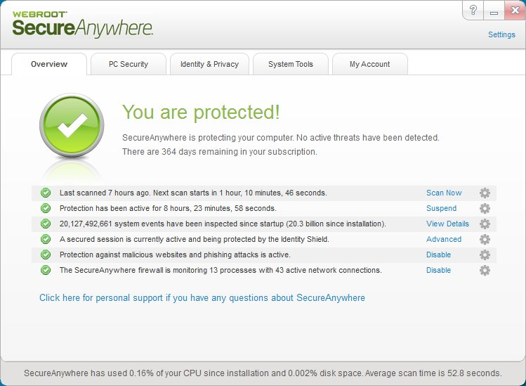 5 Must Have Lightweight Alternatives to Commonly Used Software - WebRoot SecureAnywhere