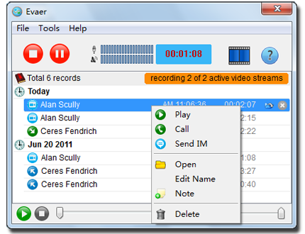 Top 5 Free Skype Call Recording Software - Evaer For Skype