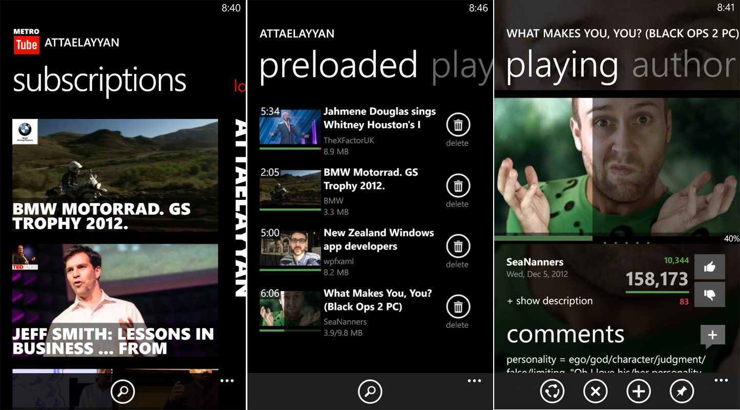 Top 4 YouTube Apps For Windows Phone 8 - MetroTube