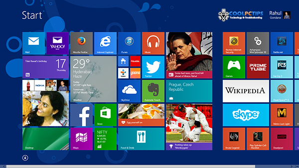 Windows 8.1 Review - Start Screen