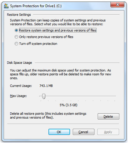 How To Reduce The Windows Folder Size and Save Storage Space - System Restore