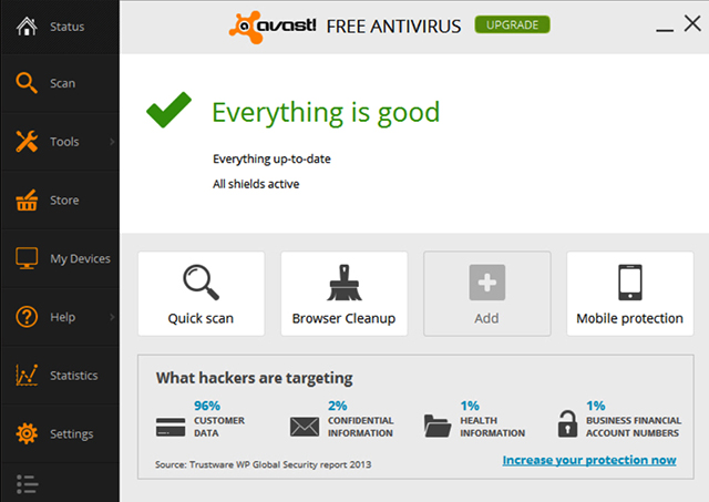 Top 5 Best Free Antivirus Software For Windows 8.1 - Avast Free 2014