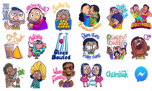 facebook chumbak stickers