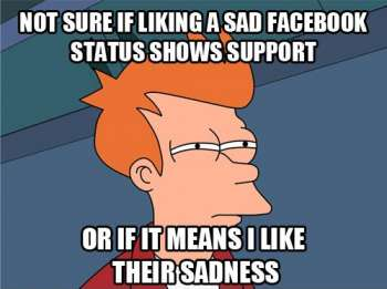 facebook sad like button