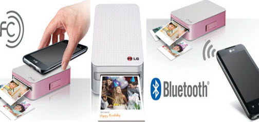 Bluetooth and NFC as the wireless connectivity Pocket Printer