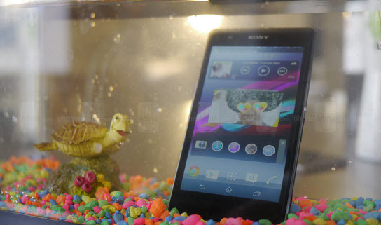 Sony Experia Z1s water proof in tank