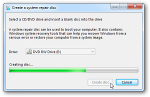 How To Create A Windows Recovery Drive Or Disc - Windows 7