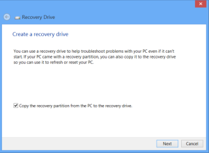 How To Create A Windows Recovery Drive Or Disc - Windows 8.1